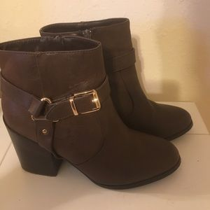 Shoes - Like new booties with gold hardware